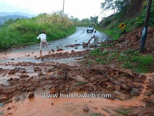 Primeros derrumbes por lluvias en Escuintla