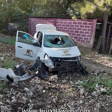 Se accidenta auto de seguridad privada Mapastepec