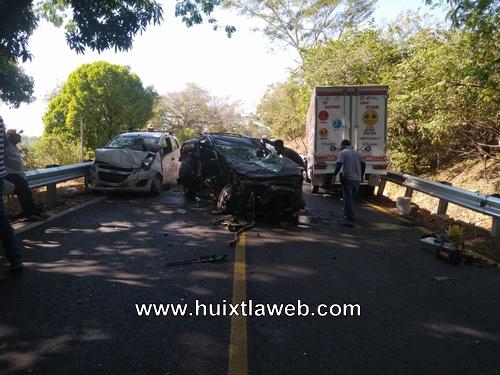 Un muerto en carambola cinco vehículos involucrados, en la costera