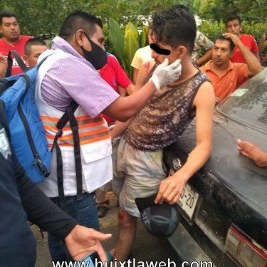Se accidenta motociclista en Tuzantán