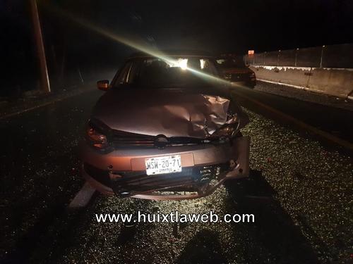 Chocan tres vehículos en la costera Huixtla – Tapachula