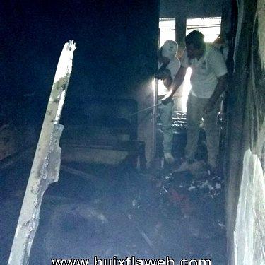 Se incendia casa por corto circuito en Villa Comaltitlán