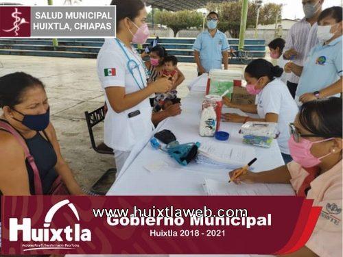 Realizan actividades del programa «acciones integrales de la salud» en ejido Francisco I. Madero