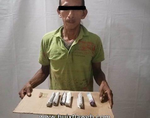 Huehueteco detenido con marihuana