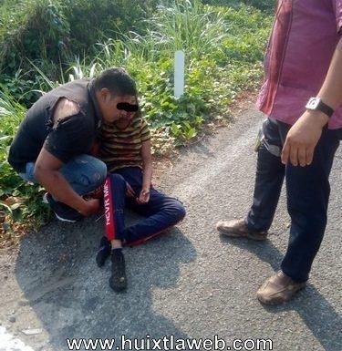 Se accidentan motociclistas carretera Huixtla Motozintla