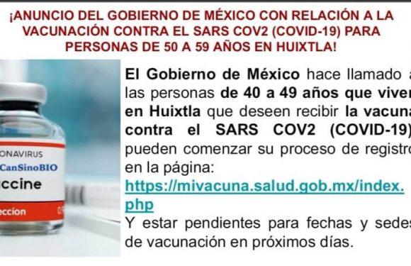 Anuncio del gobierno de México