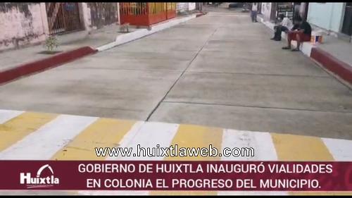 Gobierno de Huixtla inauguró vialidades en colonial el progreso