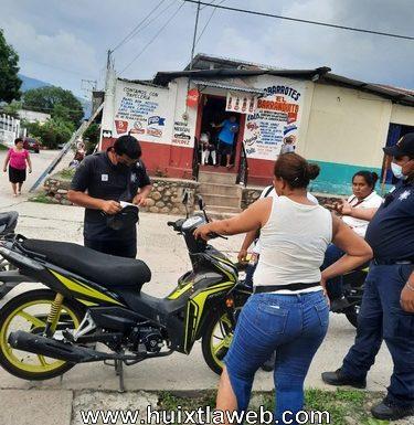Chocan motocicletas en Huixtla