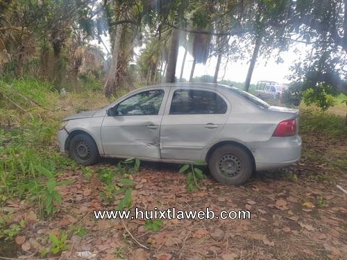 Recuperan vehículo que presuntamente utilizaron para asaltar en Mazatán
