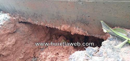 Temen que colapse obra recién inaugurada en Tuzantán