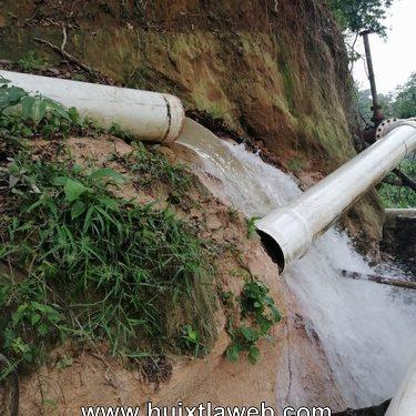 Sin agua Huixtla por daños en la tubería