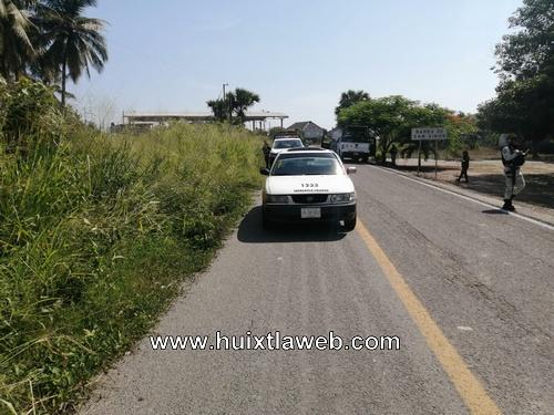 Abandonan taxi de Tapachula en Mazatán