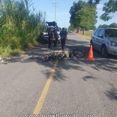 Huehueteco es atropellado por vehículo