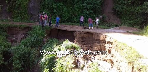 Siete comunidades cafetaleras de Huixtla afectadas por lluvias