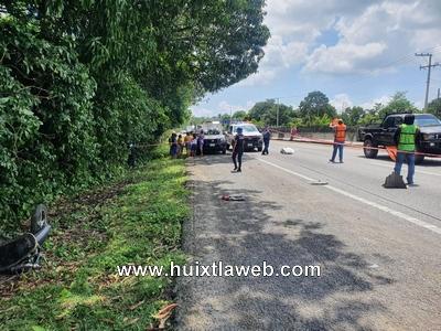 Motociclista muere al ser arrollado en carretera Huixtla – Tapachula en Tuzantán