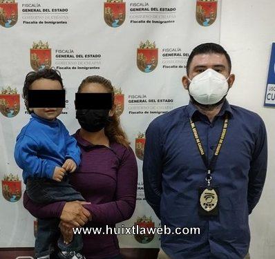 Recupera la fiscalía bebé hondureño en Motozintla
