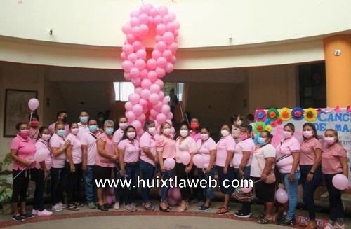 Conmemora Dif y Gobierno municipal de Comaltitlán Día Mundial de la Lucha contra el Cáncer de Mama