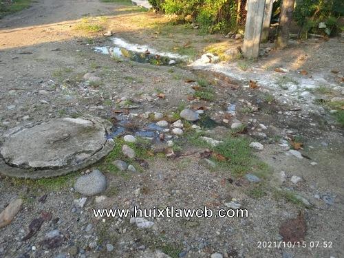 Contaminación por aguas negras en los milenios Huixtla