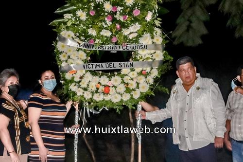 Homenaje póstumo a las victimas a 16 años del huracán Stan