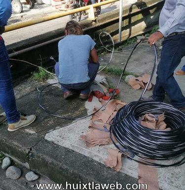 Va de nuevo la iluminación del puente nuevo milenio, se robaron los cables